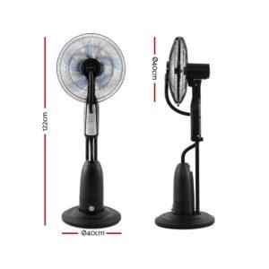MF RC 40 5B SI 02 300x300 - Devanti Mist Fan Pedestal Fans Cool Water Spray Timer Remote 5 Blades Black and Silver