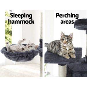 PET CAT PCTOP GR 05 300x300 - i.Pet Cat Tree Trees Scratching Post Scratcher Tower Condo House Furniture Wood