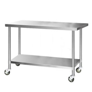 SSKB 430S 76 WHEEL 60 00 300x300 - Cefito 1524 x 762mm Commercial Stainless Steel Kitchen Bench with 4pcs Castor Wheels