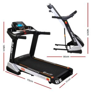 tmill chi 480 susp 01 300x300 - Everfit Electric Treadmill 48cm Incline Running Home Gym Fitness Machine Black