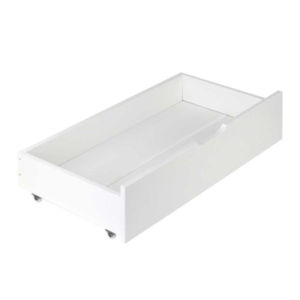 WBED D DRAW03 WHX2 00 600x600 - Artiss Set of 2 Single Size Wooden Trundle Drawers - White