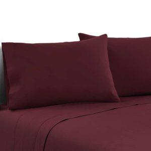 SHEET MICRO BGD K 00 300x300 - Giselle Bedding King Burgundy 4pcs Bed Sheet Set Pillowcase Flat Sheet
