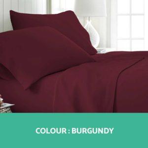 SHEET MICRO BGD K 02 300x300 - Giselle Bedding King Burgundy 4pcs Bed Sheet Set Pillowcase Flat Sheet