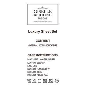 SHEET MICRO BGD K 04 300x300 - Giselle Bedding King Burgundy 4pcs Bed Sheet Set Pillowcase Flat Sheet