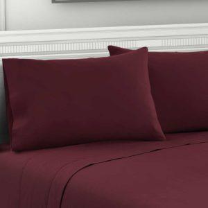 SHEET MICRO BGD K 05 300x300 - Giselle Bedding King Burgundy 4pcs Bed Sheet Set Pillowcase Flat Sheet
