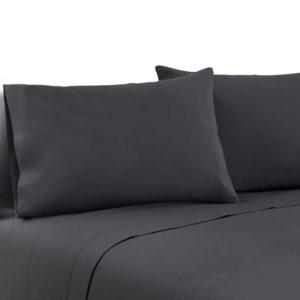 SHEET MICRO CHAR Q 00 300x300 - Giselle Bedding Queen Charcoal 4pcs Bed Sheet Set Pillowcase Flat Sheet
