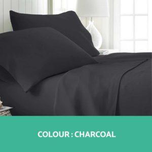 SHEET MICRO CHAR Q 02 300x300 - Giselle Bedding Queen Charcoal 4pcs Bed Sheet Set Pillowcase Flat Sheet