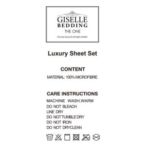 SHEET MICRO CHAR Q 04 300x300 - Giselle Bedding Queen Charcoal 4pcs Bed Sheet Set Pillowcase Flat Sheet