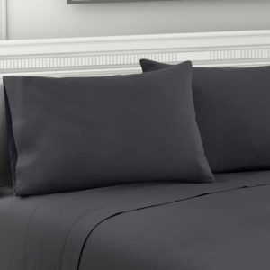 SHEET MICRO CHAR Q 05 300x300 - Giselle Bedding Queen Charcoal 4pcs Bed Sheet Set Pillowcase Flat Sheet
