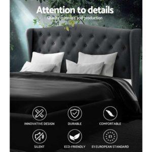 BFRAME E PIER K CHAR ABC 02 300x300 - Artiss King Size Bed Frame Base Mattress Platform Fabric Wooden Charcoal PIER