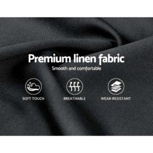 BFRAME E PIER K CHAR ABC 04 300x300 - Artiss King Size Bed Frame Base Mattress Platform Fabric Wooden Charcoal PIER
