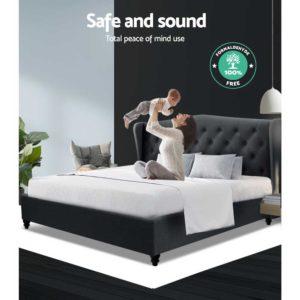 BFRAME E PIER K CHAR ABC 05 300x300 - Artiss King Size Bed Frame Base Mattress Platform Fabric Wooden Charcoal PIER