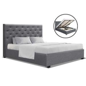 BFRAME E VILA D GY AB 00 300x300 - Artiss Double Full Size Gas Lift Bed Frame Base With Storage Mattress Grey Fabric VILA