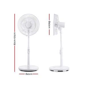 PF B 5035 DC WH 01 300x300 - 40cm Pedestal Fan DC Motor 9 Speeds Quiet Remote Control Sleep Mode Timer Home