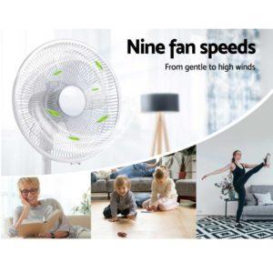 PF B 5035 DC WH 05 300x300 - 40cm Pedestal Fan DC Motor 9 Speeds Quiet Remote Control Sleep Mode Timer Home