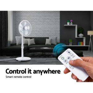 PF B 5035 DC WH 06 300x300 - 40cm Pedestal Fan DC Motor 9 Speeds Quiet Remote Control Sleep Mode Timer Home