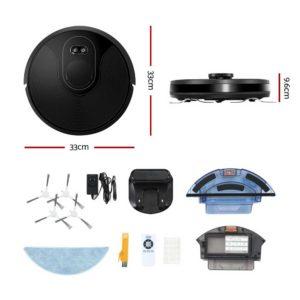 RVC D X8 BK 01 300x300 - Robot Vacuum Cleaner Robotic LDS Distance Sensor Automatic Carpet Floor Mop