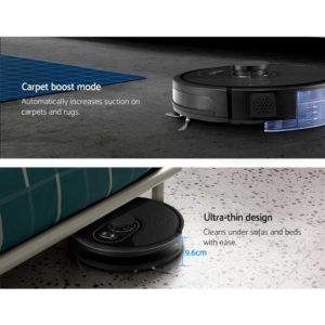 RVC D X8 BK 03 300x300 - Robot Vacuum Cleaner Robotic LDS Distance Sensor Automatic Carpet Floor Mop