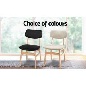 BENT C 8009 BKX2 05 300x300 - Artiss Set of 2 Wood & PVC Dining Chairs - Black