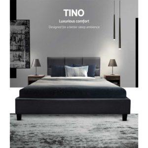BFRAME E TINO KS CHAR AB 02 300x300 - Artiss TINO King Single Size Bed Frame Base Fabric Headboard Wooden Mattress