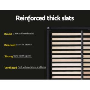 BFRAME E TINO KS CHAR AB 05 300x300 - Artiss TINO King Single Size Bed Frame Base Fabric Headboard Wooden Mattress