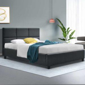 BFRAME E TINO KS CHAR AB 06 300x300 - Artiss TINO King Single Size Bed Frame Base Fabric Headboard Wooden Mattress