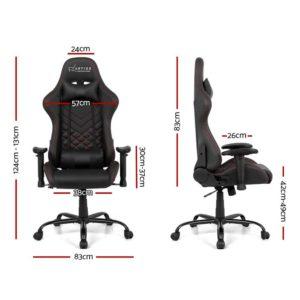 ochair g r61pfr abk 01 300x300 - Artiss Gaming Office Chairs Computer Desk Racing Recliner Executive Seat Black