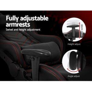 ochair g r61pfr abk 05 300x300 - Artiss Gaming Office Chairs Computer Desk Racing Recliner Executive Seat Black