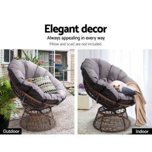 ODF PAPASAN CH BR 04 300x300 - Gardeon Papasan Chair - Brown