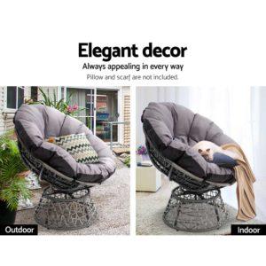 ODF PAPASAN CH GE 04 300x300 - Gardeon Papasan Chair - Grey