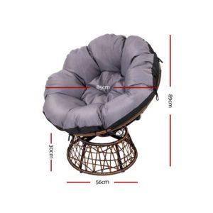 ODF PAPASAN CHTB BR 01 300x300 - Gardeon Papasan Chair and Side Table - Brown