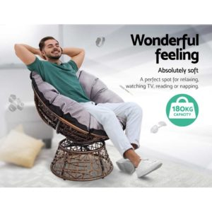 ODF PAPASAN CHTB BR 03 300x300 - Gardeon Papasan Chair and Side Table - Brown