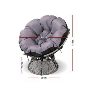 ODF PAPASAN CHTB GE 01 300x300 - Gardeon Papasan Chair and Side Table - Grey