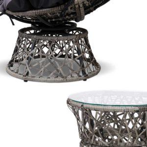 ODF PAPASAN CHTB GE 02 300x300 - Gardeon Papasan Chair and Side Table - Grey