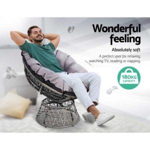 ODF PAPASAN CHTB GE 03 300x300 - Gardeon Papasan Chair and Side Table - Grey