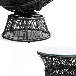 ODF PAPASAN TBCHX2 BK 03 300x300 - Gardeon Papasan Chair and Side Table Set- Black