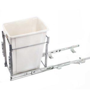 POT B 20L WH 01 300x300 - Devanti 20L Pull Out Bin Door Mount Kitchen Rubbish Bin White