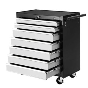 TB 7DR RL BKGY 00 300x300 - Giantz Tool Chest and Trolley Box Cabinet 7 Drawers Cart Garage Storage Black and Silver