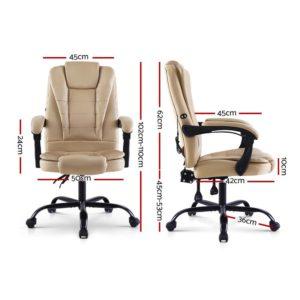 MOC 09M 2P KI 01 300x300 - Artiss Massage Office Chair Gaming Chair Recliner Computer Chairs Khaki