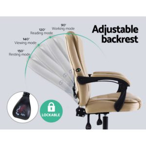 MOC 09M 2P KI 04 300x300 - Artiss Massage Office Chair Gaming Chair Recliner Computer Chairs Khaki