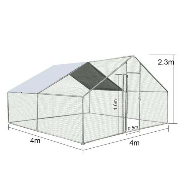 158419 1046735 HD 600x600 - Large Metal Run Rabbit Chicken Hutch Coop House Guinea Ferret Pets Outdoor Cage