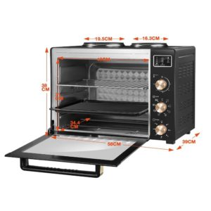 184729 1354187 HD 300x300 - 45L Portable Electric Benchtop Oven Convection Bake Toaster Rotisserie Hot Plate