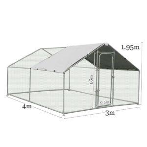 159705 1062549 HD 300x300 - Galvanized Steel Fencing Pet Chicken Duck Pen Run Enclosure Roof Cover 4m x 3m
