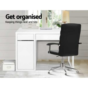 DESK DRAW 105 WH AB 02 300x300 - Artiss Metal Desk With Storage Cabinets - White