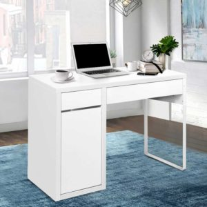 DESK DRAW 105 WH AB 06 300x300 - Artiss Metal Desk With Storage Cabinets - White