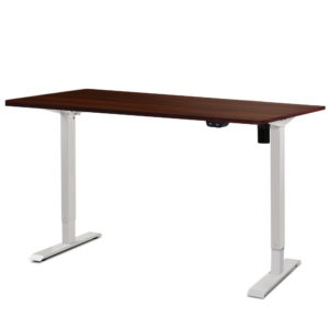 HASD 114E WHDF WADB 140 00 1 300x300 - Electric Motorised Height Adjustable Standing Desk - White Frame with 140cm Walnut Top
