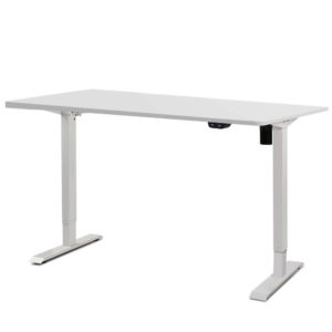 HASD 114E WHDF WHDB 140 00 1 300x300 - Electric Motorised Height Adjustable Standing Desk - White Frame with 140cm White Top