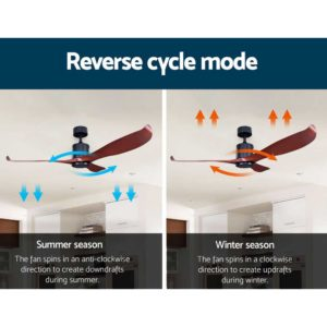 """CF B 56 NL 147 LW 03 300x300 - 56"""" DC Motor Ceiling Fan with Remote 8H Timer Reverse Mode 5 Speeds Wooden"""