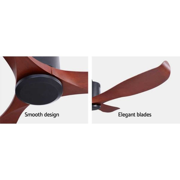 """CF B 56 NL 147 LW 05 600x600 - 56"""" DC Motor Ceiling Fan with Remote 8H Timer Reverse Mode 5 Speeds Wooden"""