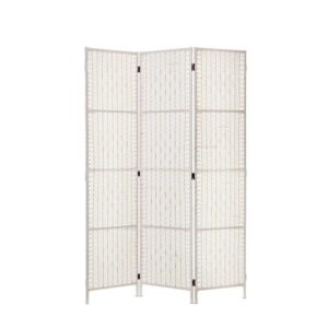 RD C 8001 3P WH 00 300x300 - Artiss 3 Panels Room Divider Screen Privacy Rattan Timber Fold Woven Stand White